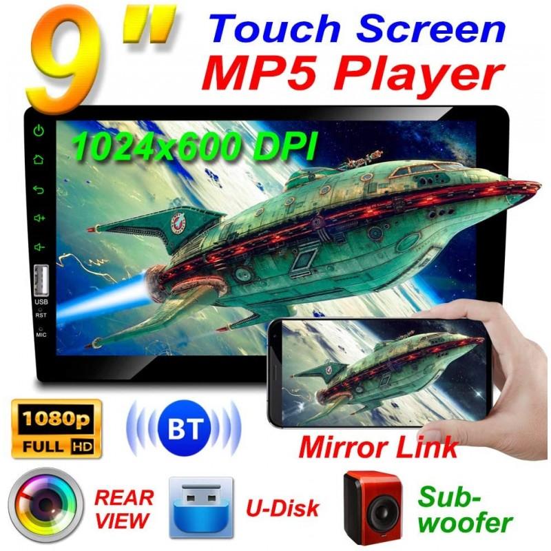 Érintőképernyős 1 DIN-es autó multimédia lejátszó Kamerával