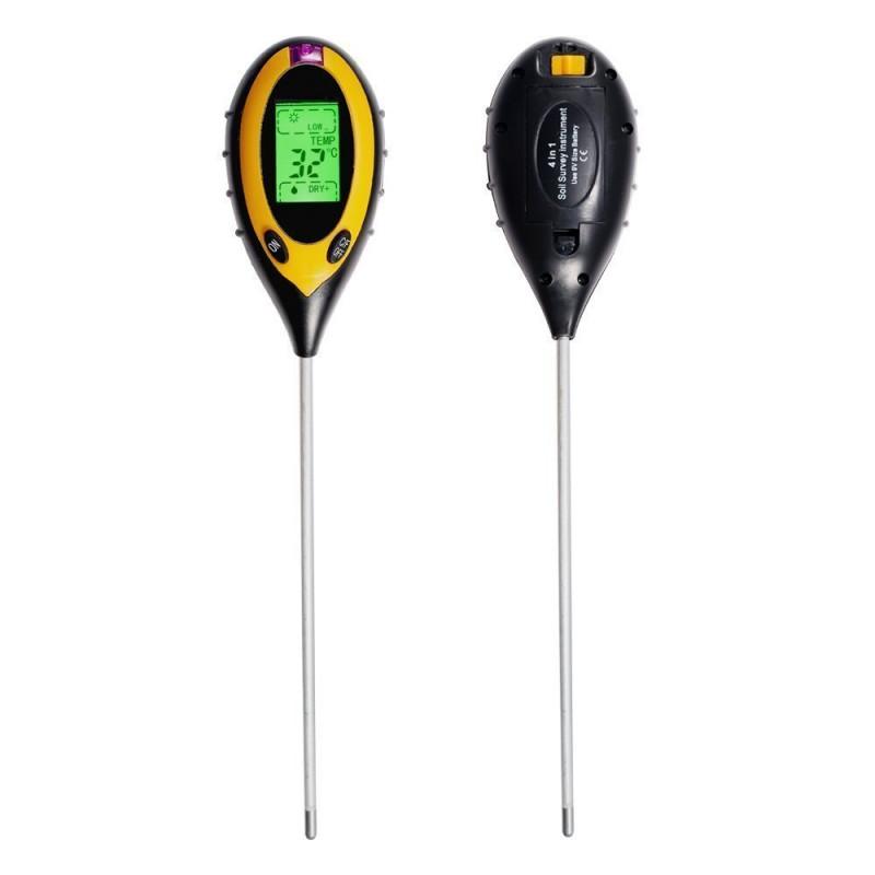 4 az 1-ben digitális talajmérő műszer - talajm...
