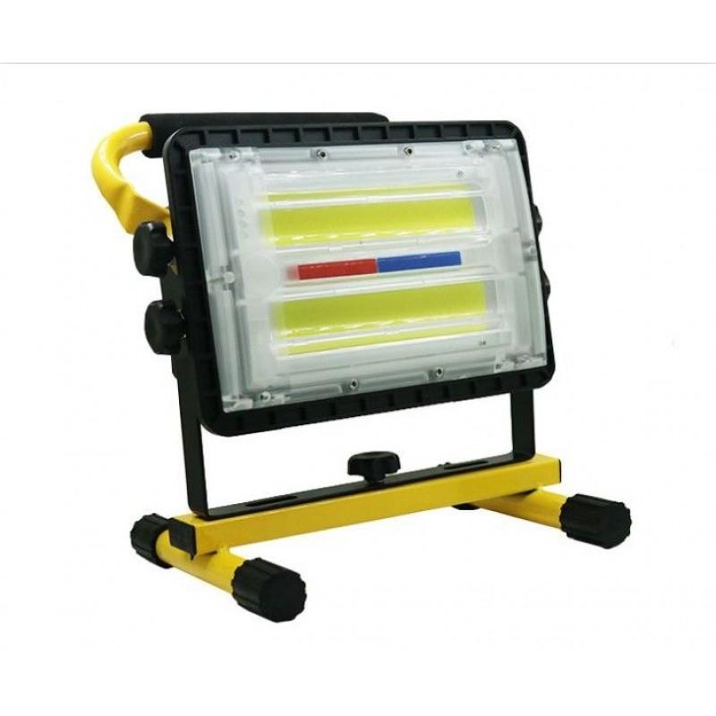 150W Hordozható 144 COB Led reflektor akkumuláto...