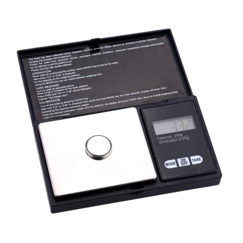 200g-os Digitális precíziós zsebmérleg, gramm ...