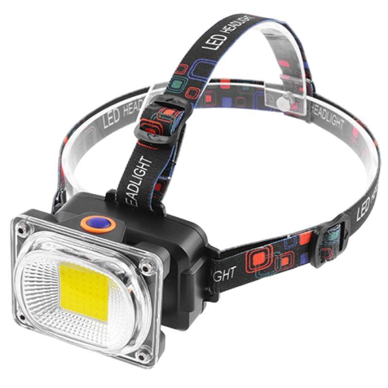 1 fényszórós profi LED fejlámpa töltővel és...