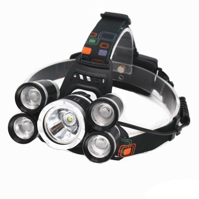 Five Light nagy fényerejű 5 lámpás akkus LED f...