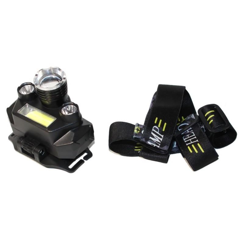 Fejlámpa 15000LM 3x XM-L T6 LED + COB újratölthető TD Plus TD-811-T6