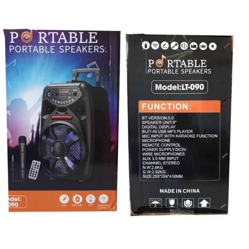 Bluetooth hangszóró mikrofonnal LT-090