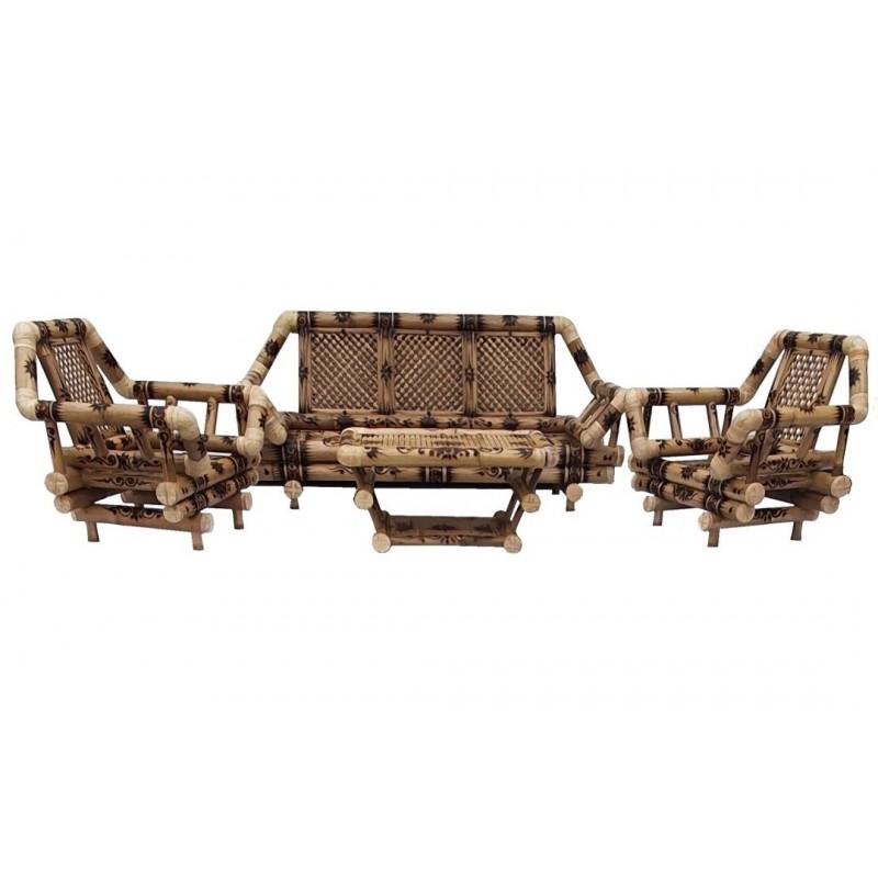 Bambusz ülőgarnitúra 3+1+1