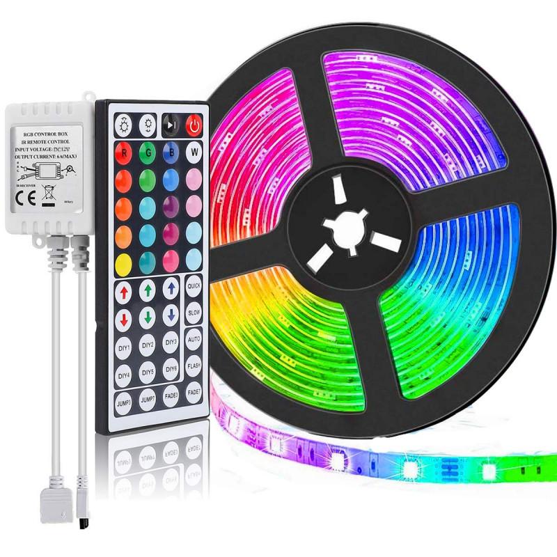 5050 RGB ledszalag, 5 méteres, színváltós - 54...