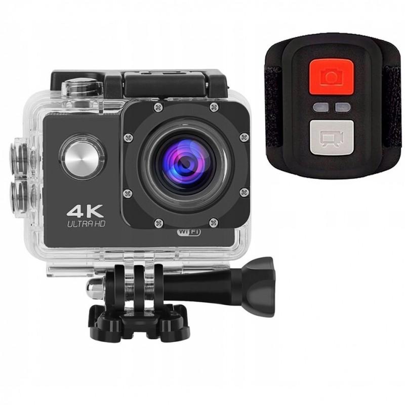 4K UltraHD sportkamera távirányítóval ,  WIFI 2.4G, 30m vízálló, 16MP / 12MP 4K 30FPS