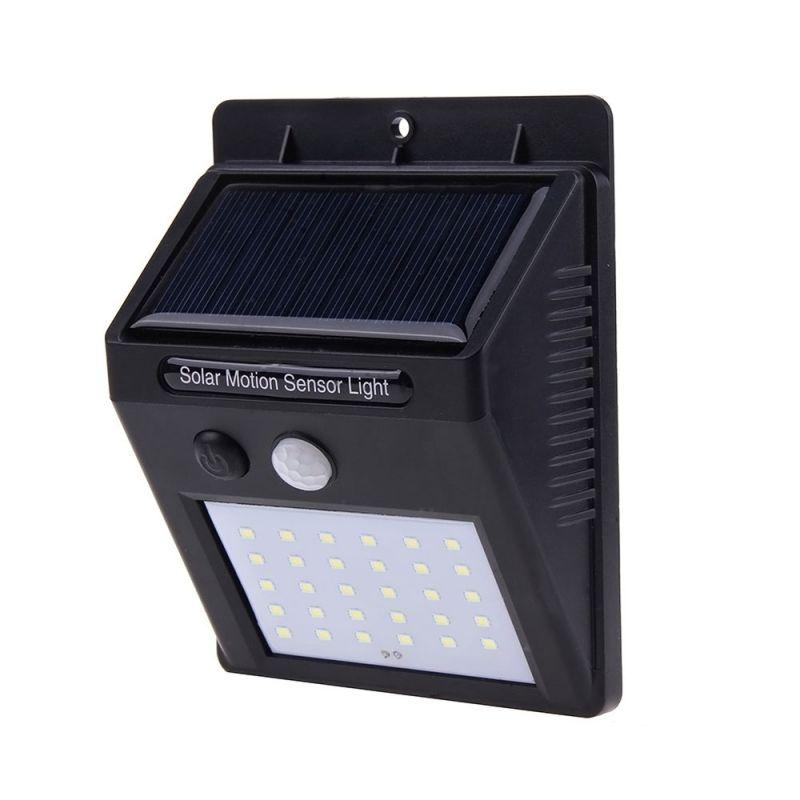 Alloet 30 LED-es napelemes kültéri  lámpa alkon...