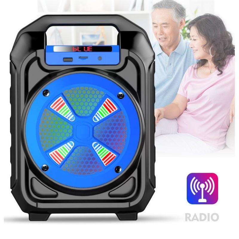 Hordozható hangszóró Bluetooth multimédia lejátszó akkumulátorral LED hangszóróval B302