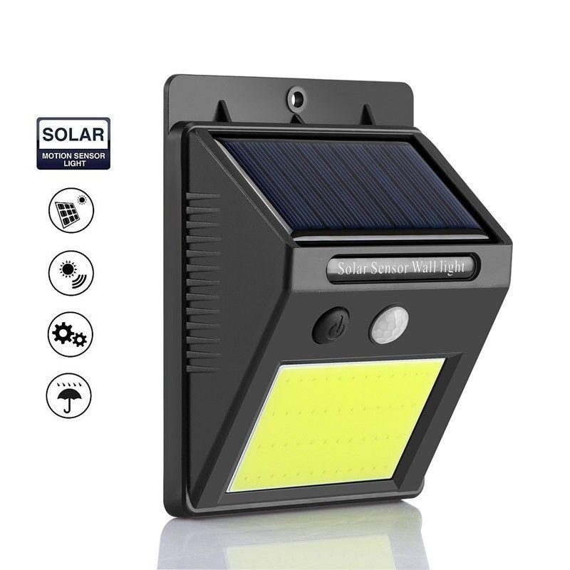 Alloet napelemes kültéri LED COB lámpa alkonyat...