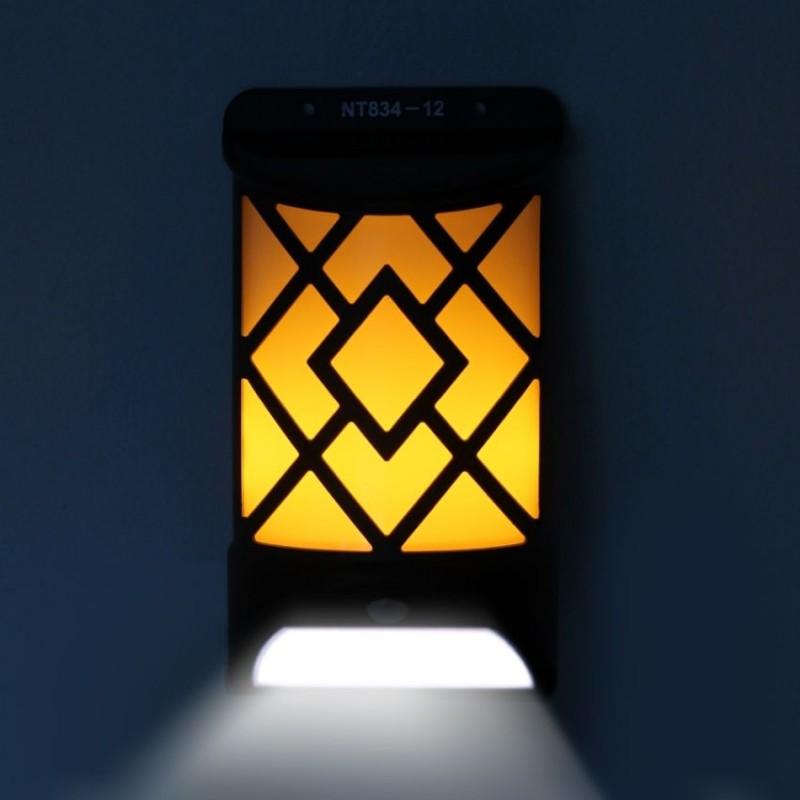 MX -  Láng hatású, kétfunkciós mozgásérzékelős napelemes LED lámpa