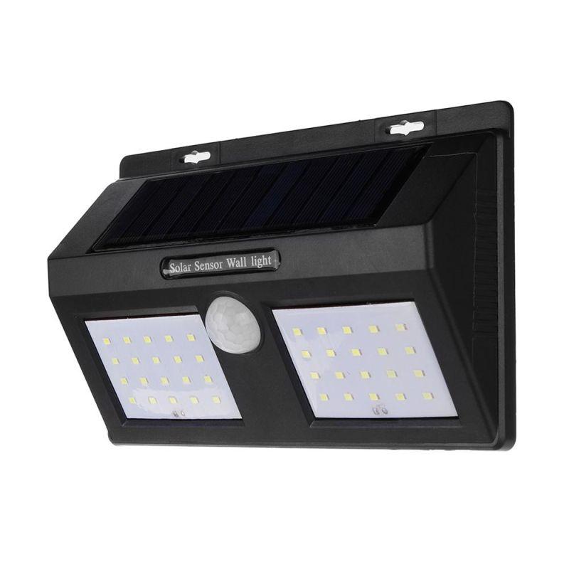 Alloet 40 LED-es napelemes kültéri lámpa alkony...
