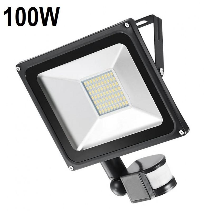 100 W Mozgásérzékelős LED Reflektor