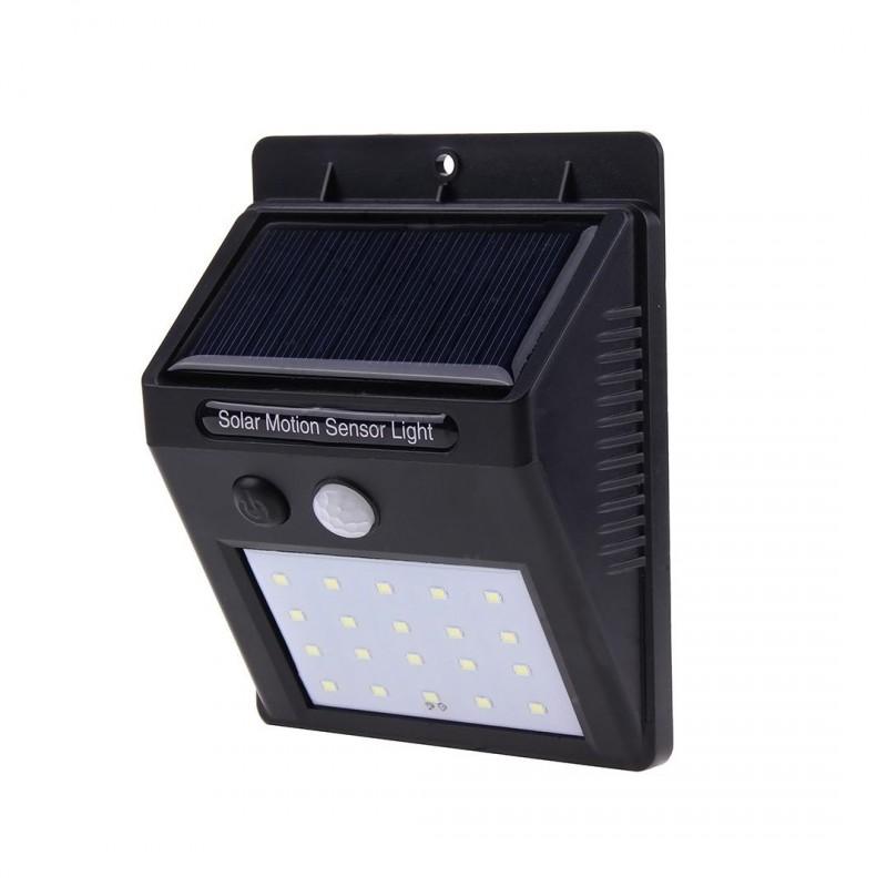 Alloet 20 LED-es napelemes kültéri LED lámpa al...