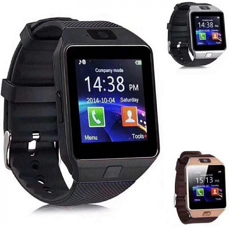Smart Watch DZ09, Android okosóra kamerával + független SIM kártya hely - fekete