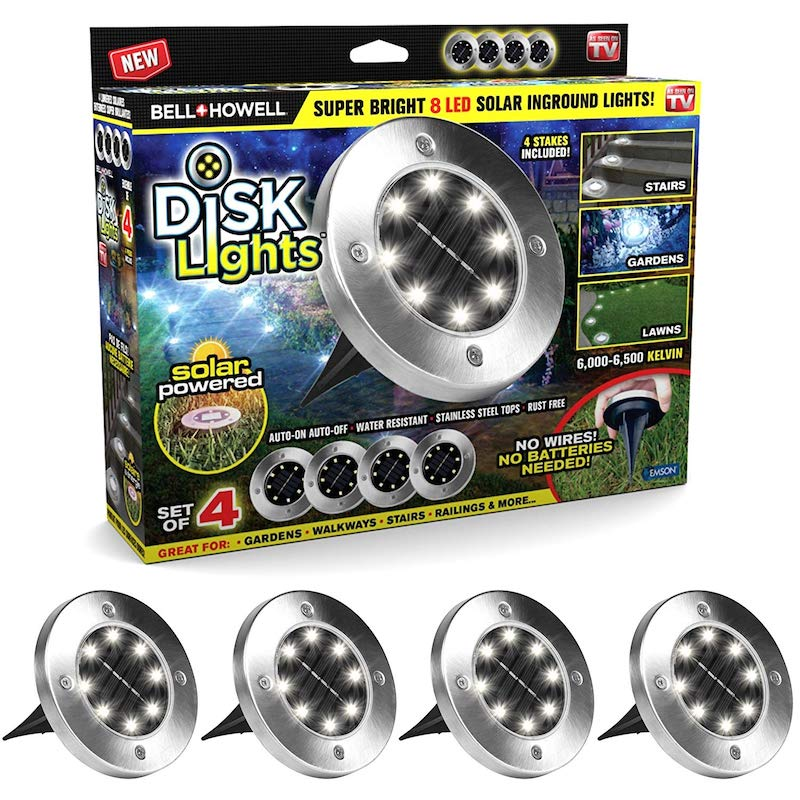 Disk Lights 4 db multifunkcionális LED-es szolár...