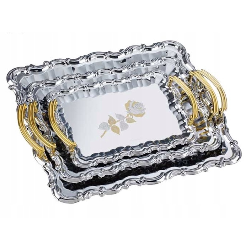 Peterhof PH-16109  3 részes tálca készlet arany