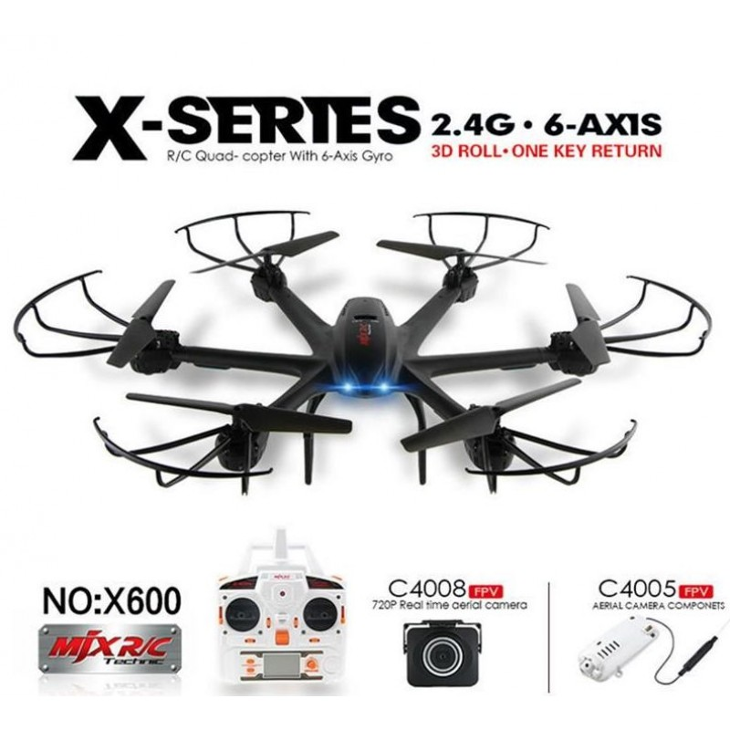 X-Series 2.4G 6 tengelyes FPV wifi drón rc