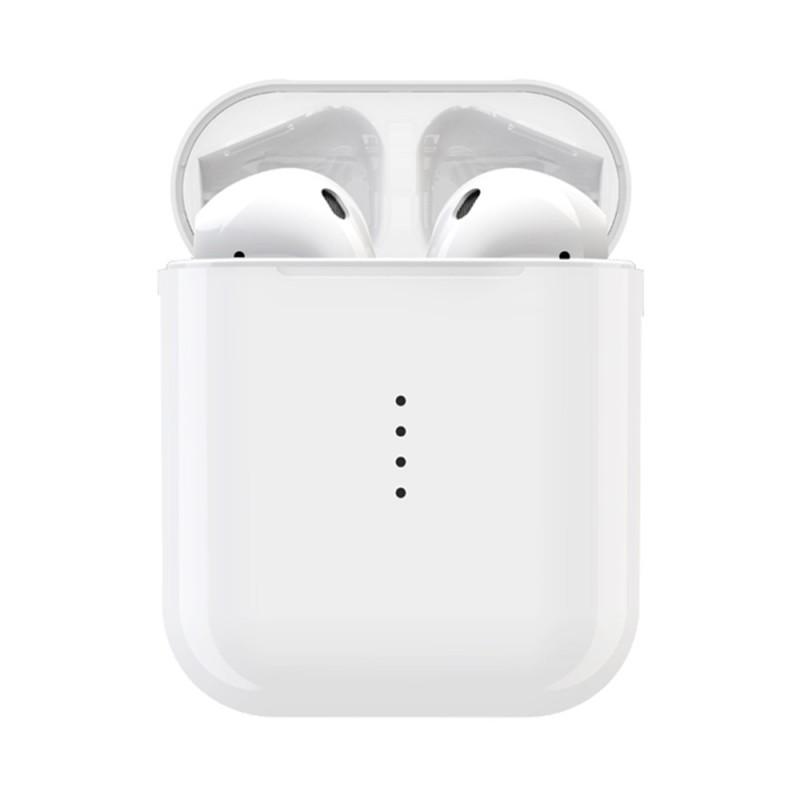 i10 MAX Bluetooth Vezetéknélküli Fülhallgató Töltő Tokkal - Fehér