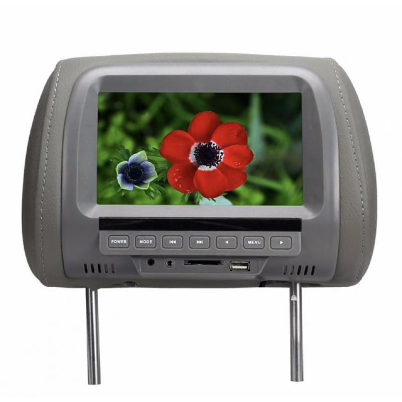 """2 db Fejtámlába épített 7""""-os TFT-LED monitor"""