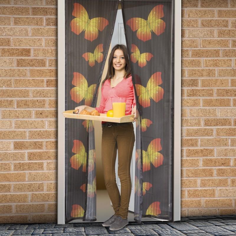 Szúnyogháló függöny ajtóra - Pillangó