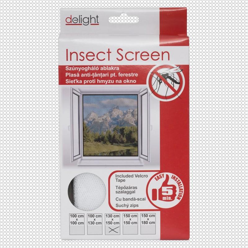 Szúnyogháló ablakra fehér - 130x150 cm
