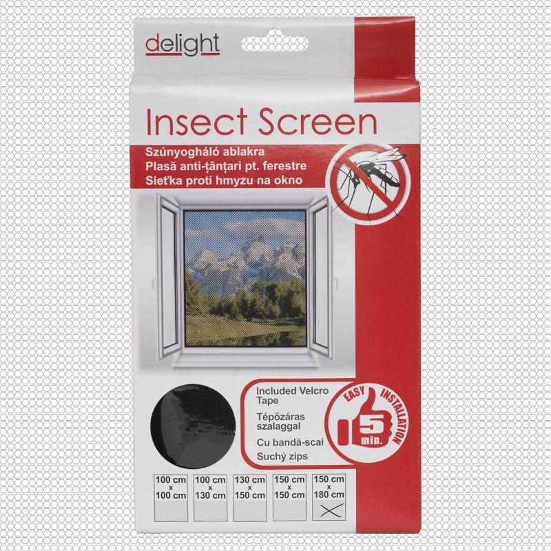 Szúnyogháló ablakra fekete - 150x180 cm