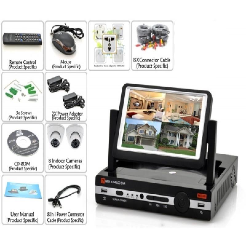 Online HD megfigyelő rendszer 8 kamerával  beép...