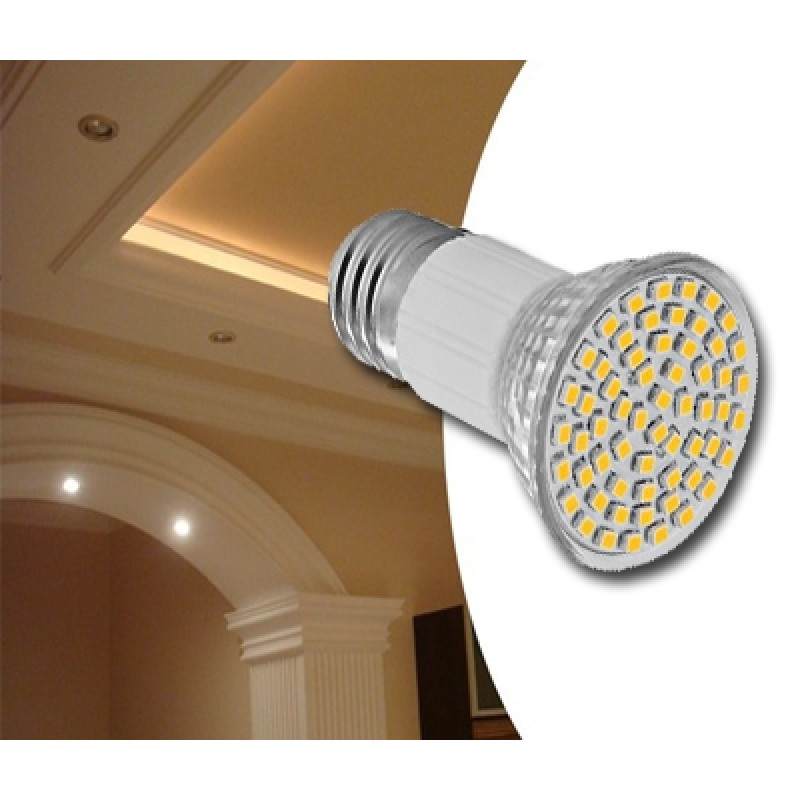 5W 48 SMD LED izzó E27 foglalattal